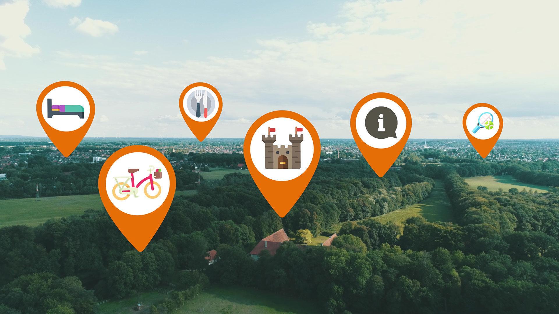 Touristiker im Münsterland