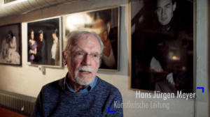 Still aus Blickfänger Porträtfilm Probebühne Osnabrück e.V. Hans Jürgen Meyer