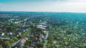Stadtpanorama, Drohnenaufnahme, Luftaufnahme, Kameradrohne, Blickfänger GbR