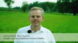 Imagefilm, Unternehmensfilm, Interview, Prowind, Blickfänger GbR